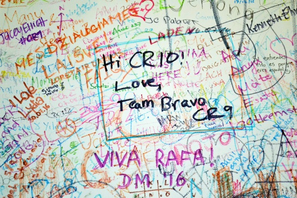 Bravo signs the wall