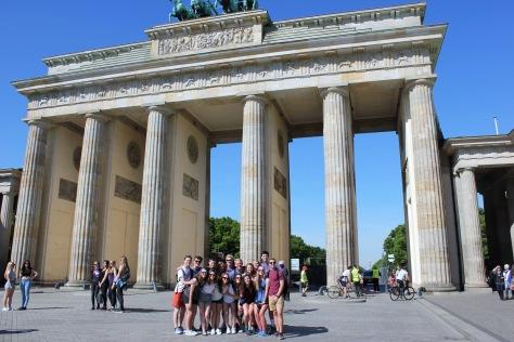 CR at the brandenburg gate